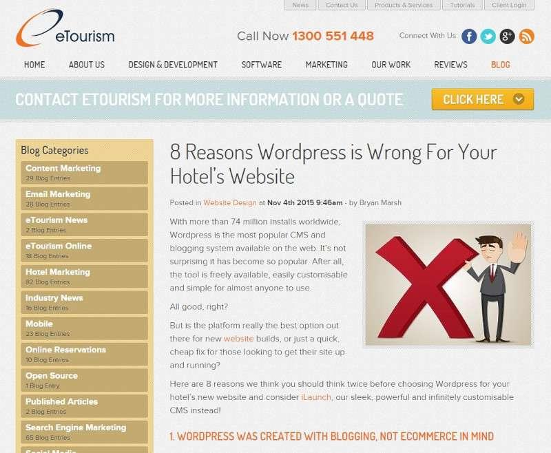 wordpress tourism